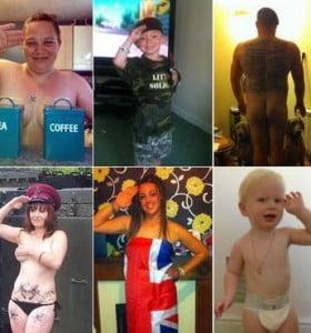 Soldados posan desnudos en apoyo al príncipe Harry