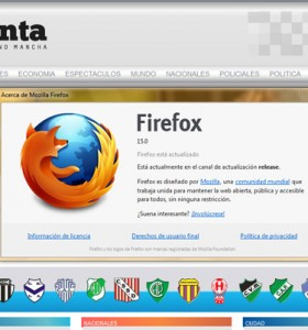 Firefox 15 disponible para descargar