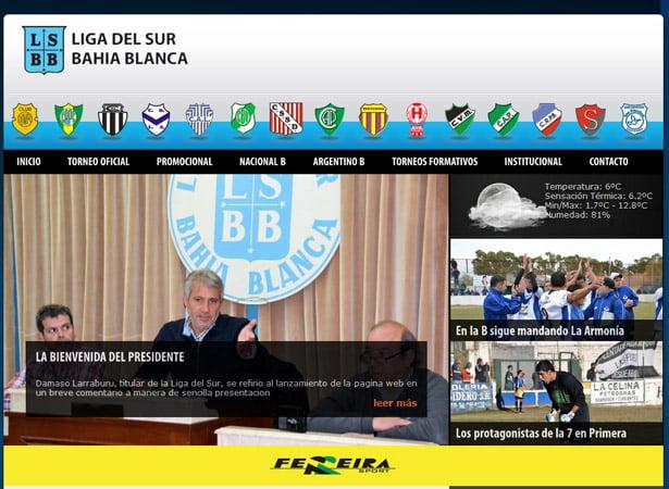 La Liga del Sur de Bahía Blanca estrena sitio web