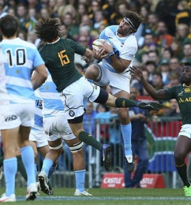 Los Pumas cayeron ante Sudáfrica en el histórico debut del Rugby Championship