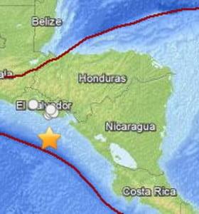 El Salvador: confusión por sismo y alerta de tsunami