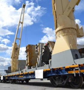 Potasio Río Colorado S.A descarga sus primeros vagones en el Puerto local
