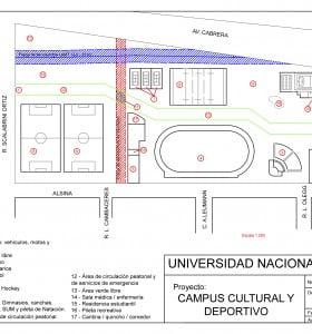 Estudiantes de la UNS proponen construir un Campus Cultural y Deportivo