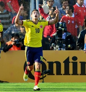 Colombia le ganó a Chile y alcanzó a la Argentina en la cima de las eliminatorias