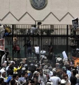 Rebeldes tomaron por asalto la embajada de EEUU en Yemen