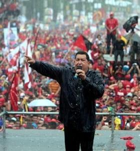 Chavez cerro su campaña en Caracas