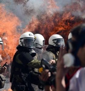 Huelga y represión en Grecia