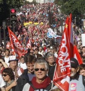 Marcha en París contra los recortes