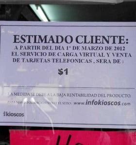 Las telefónicas fueron multadas con 610 mil pesos por los adicionales que cobran los kioscos