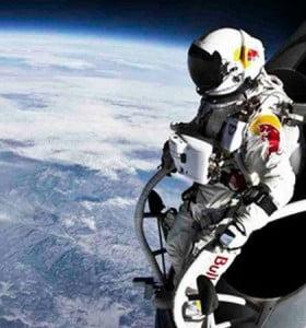 Felix Baumgartner también batió récords ayer en las redes sociales