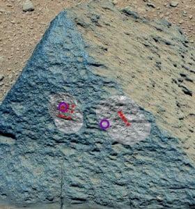 Inusual roca volcánica hallada en Marte