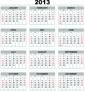 En 2013 habrá 17 feriados y siete fines de semana largos