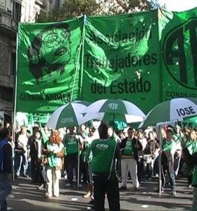 """Terminó paro de ATE: Advierten que """"no hay certeza"""" sobre el aguinaldo"""