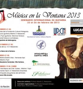 Festival Música en la Ventana- Cuarta edición- 23 al 26 de febrero de 2013