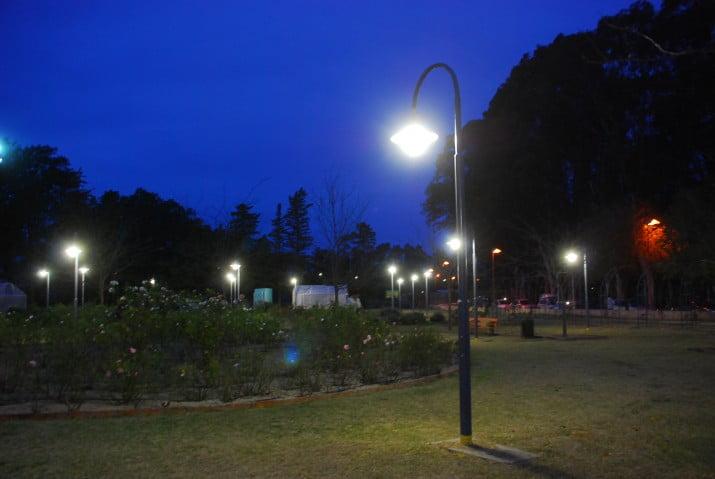 iluminaci n para el rosedal del parque de mayo