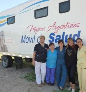 Móvil Mujeres argentinas en el Hospital Municipal