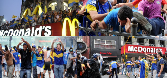 Heridos, detenidos y destrozos en los festejos de los hinchas de Boca