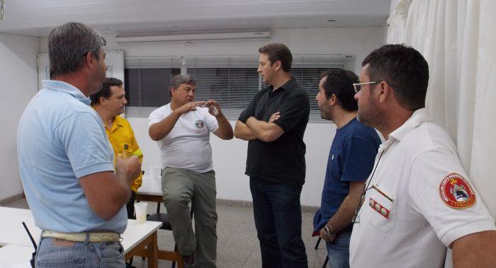 Reuniones por el incendio en el sector Serrano