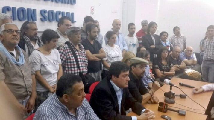 Tras conferencia de prensa junto a Mariotto, fue detenido Fernando Esteche