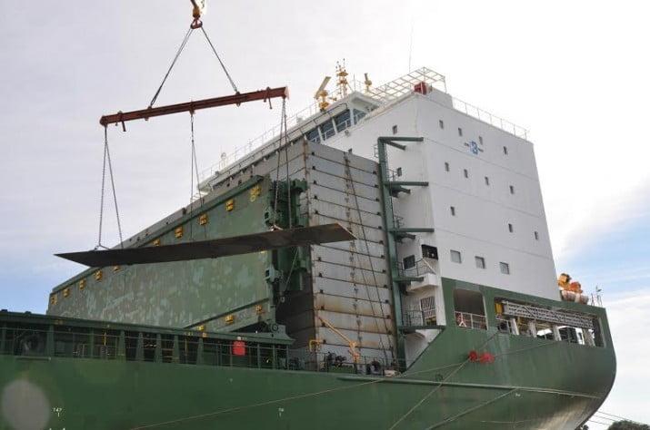 Astillero Río Santiago: arribó el acero para la fabricación de dos grandes buques