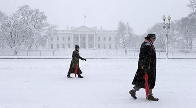 Un temporal obligó a cerrar la Casa Blanca