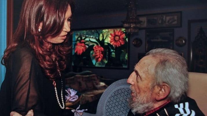 Cristina almorzó con Fidel Castro en La Habana