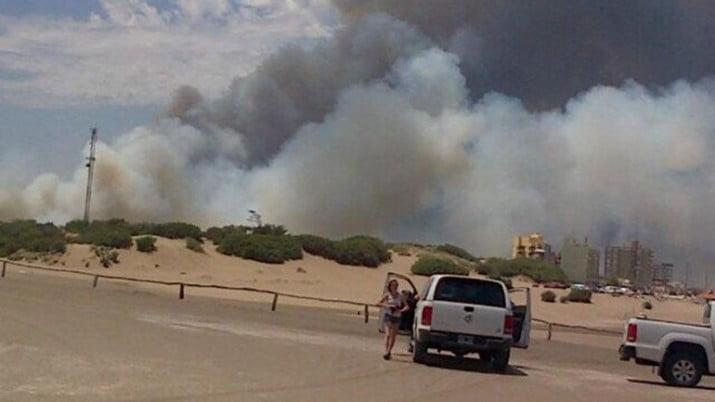 Otro incendio en la región: ahora en Claromecó