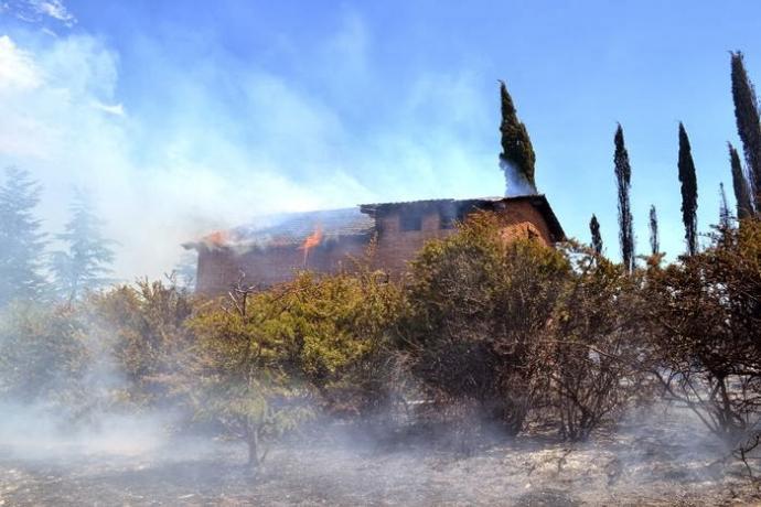 Incendios: Scioli anunció eximición de impuestos y reforestación