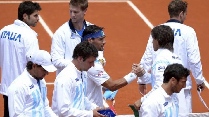 Copa Davis: Argentina perdió con Italia y deberá jugar un repechaje