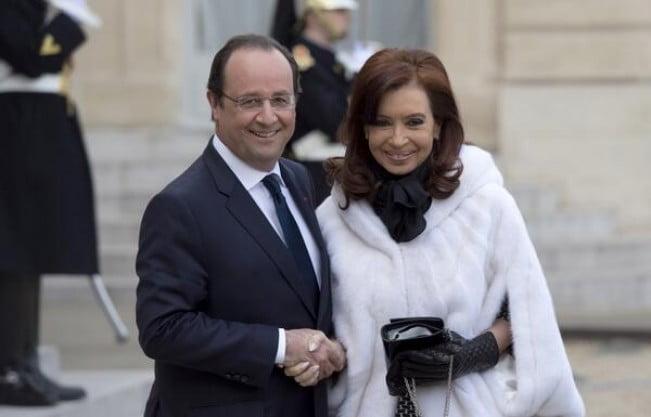 Cristina agradeció a Francia su apoyo con los fondos buitre y el Club de París
