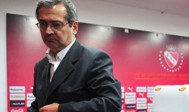 Cantero renunció a la presidencia de Independiente