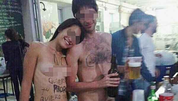 Estudiantes de la UBA se desnudaron para repudiar el acoso callejero