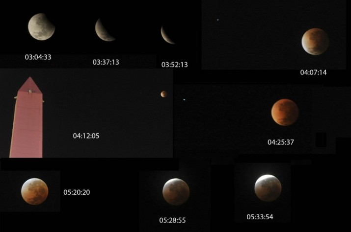 Una Luna roja pudo verse en todo el país y gran parte de América