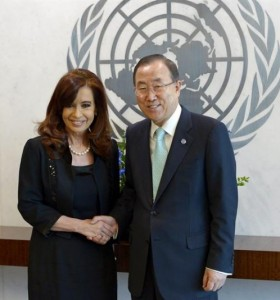 Cristina se reúne mañana con el secretario general de la ONU en Nueva York
