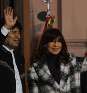 Cristina Fernández y Evo Morales inauguraron el monumento a Juana Azurduy