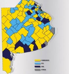 El mapa bonaerense: así será gobernada la Provincia en cada distrito