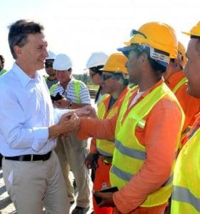 Macri relanzó obras en la ruta 7
