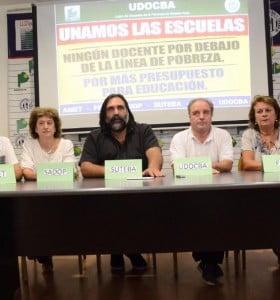 Unidos, los gremios docentes ratifican el rechazo a la propuesta de Vidal