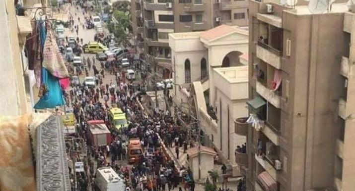 Doble atentado en iglesias de Egipto deja un saldo de 45 muertos
