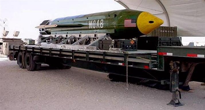 """EEUU: lanzó por primera vez en un conflicto """"la madre de todas las bombas"""""""