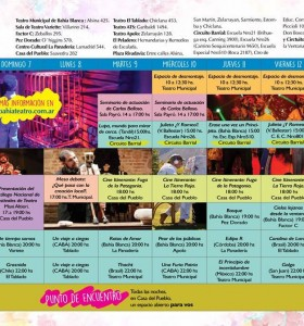 Actividades en el marco del festival Bahía Teatro