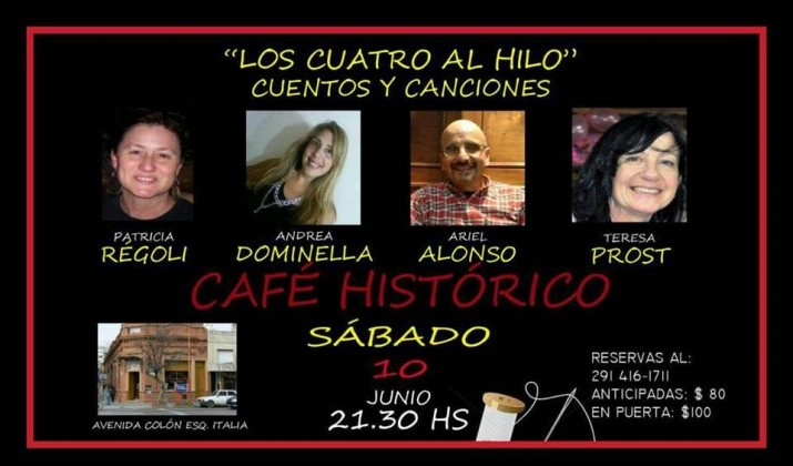 Cuentos y Canciones en Café Histórico