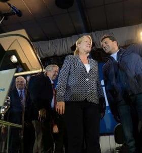 Massa y Stolbizer, candidatos a senadores de 1País, y Solá primer diputado