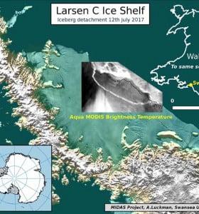 Un iceberg gigante se desprendió de la Antártida