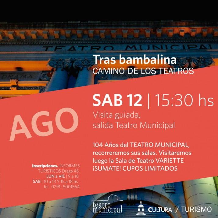 """""""Camino de los Teatros"""": visita guiada del programa """"¿Conocés Bahía?"""""""