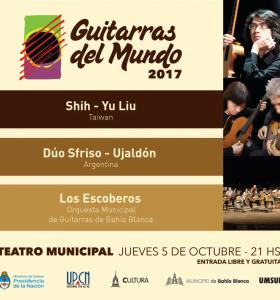 Se presenta Guitarras del Mundo en el Teatro Municipal