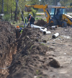 Comenzó la extensión de la red de desagüe cloacal en Millamapu