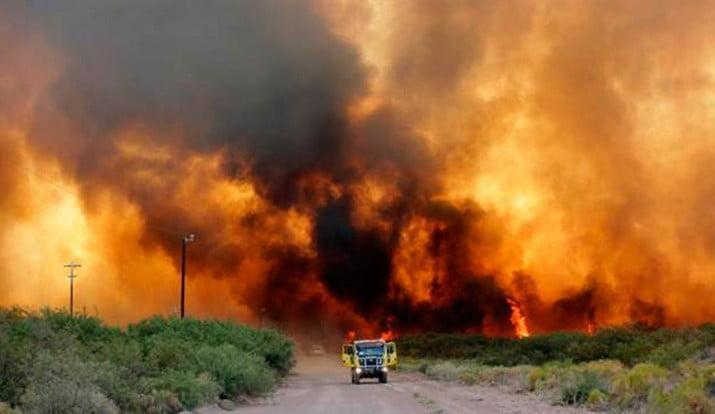 Los incendios ya arrasaron con 300 mil hectáreas en Mendoza y La Pampa