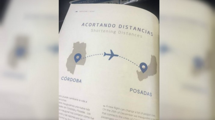 Aerolíneas Argentinas confundió Mendoza con Córdoba