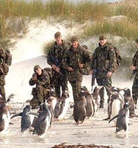 Incursiones inglesas en el continente durante la Guerra de Malvinas